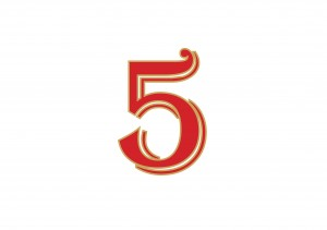 המספר של חודש מאי - 5